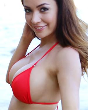 Adrienn Levai Red Bikini Dreaming