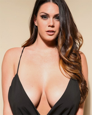 Alison Tyler Black Dress Cleavage