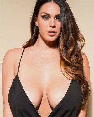 Alison Tyler Black Dress Cleavage