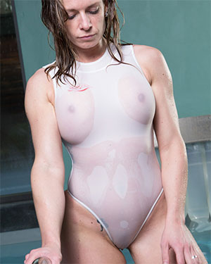 Alison Wet See Thru Swimsuit Heaven