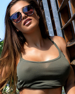 Allison Hard Nipples Outside