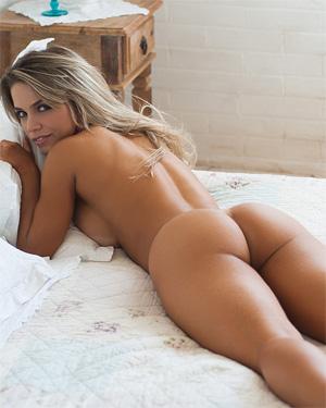 Amanda Sagaz Red Lingerie