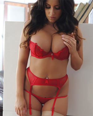 Ashley Emma Red Lingerie