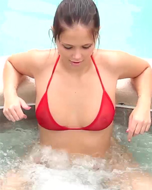 Bailey Knox and Misty Gates Ride Hot Tub Jets