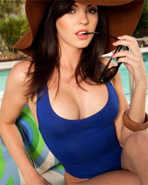 Bethanie Badertscher Blue Bikini
