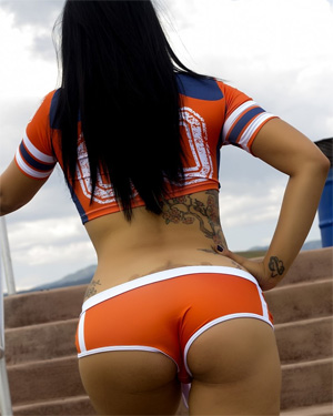Briana Lee VIP Football Fan