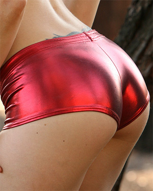 Brooke Thomsen Shiny Shorts Next Door