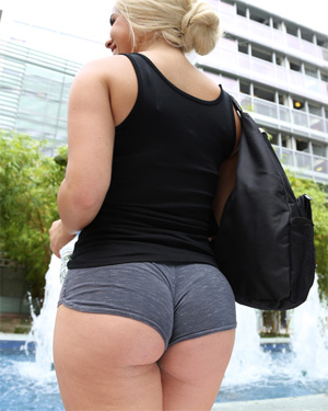Brooke Summers Booty Shorts College GF