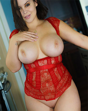 Bryci Red Lace In The Kitchen