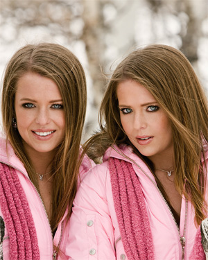 Jennifer and Natalie Campbell Twins