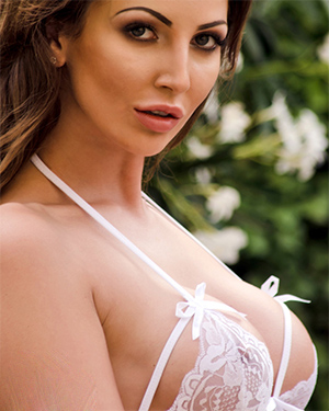 Cara Steel Busty White Lingerie