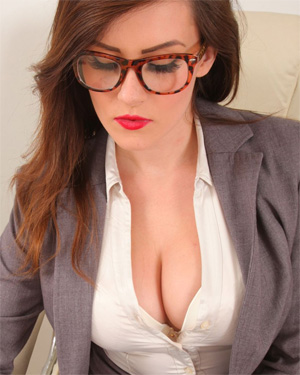 Charlie Rose Busty Office