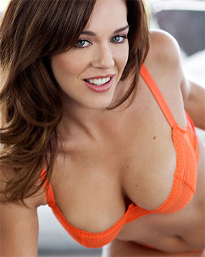 Charlie Boyde Orange Lingerie Playboy