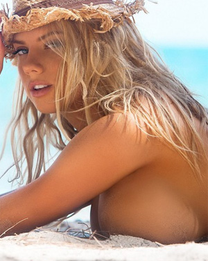 Charlotte McKinney Beach Boobs