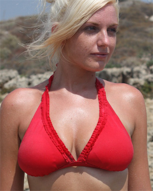 Claudia Red Bikini Cutie Flaunt It