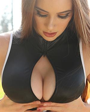 Ginger Tight Black Swimsuit Heaven
