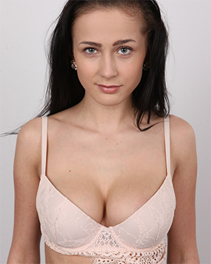 Denisa Busty Brunette Czech Casting