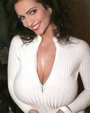 Denise Milani Tight White Sweater