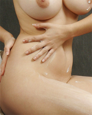 Eden Moisturizing Her Nude Body