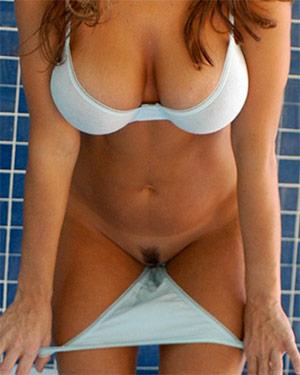 Erica Loveless Pulls Down Her Panties