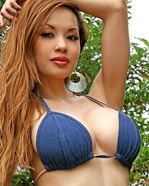 Francine Dee String Bikini Stranded