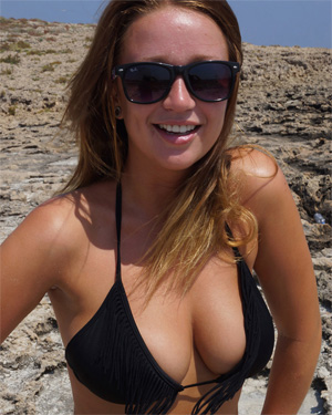 Georgia Busty Beach Strip Flaunt It