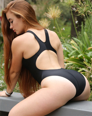 Ginger Tight Black Swimsuit Heaven