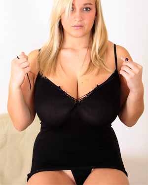 H Cup Holly Sexy Black Dress