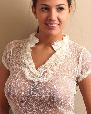 Jaycee West Sheer Top Big Boobs