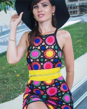 Jeny Smith Short Dress Flashing
