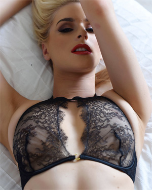 Jess Davies Teasing In Bed