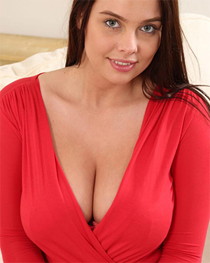 Kay Busty In A Red Dress