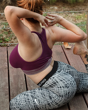 Kelsey Berneray yoga girl curves