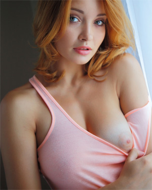 Kika Beautiful Redhead Met Art