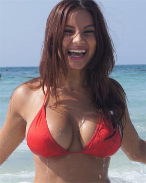 Lacey Red Bikini Flaunt It