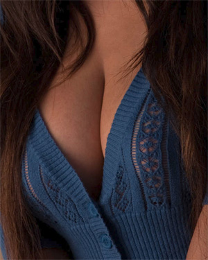 Layla Rose Blue Sweater Babe