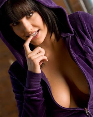 Lindsey Alvarez Purple Hoodie