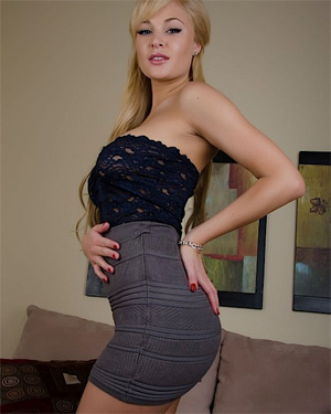 Liz Asset Short Grey Skirt