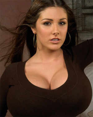 Lucy Pinder shows off her huge breasts