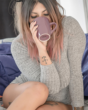 Milou Morning Coffee Suicidegirls