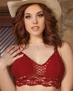 Molly Stewart Playmate Plays a Cowgirl
