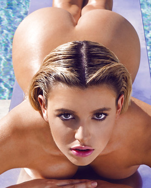 Monica Sims Nude Poolside Playboy
