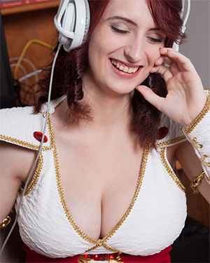 Moniqa Lefevre Busty Redhead Cosplay Model