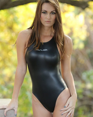 Morgan Shiny Black Swimsuit