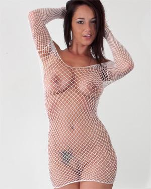 Nikki Sims White Mesh