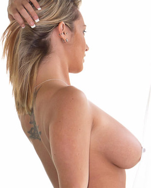 Nikki Sims White Sheer Lingerie