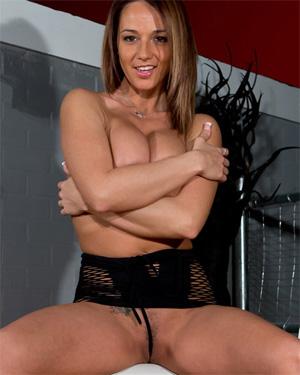Nikki Sims Black Mesh Nude