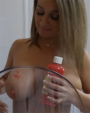 Nikki Sims Topless Painting Video