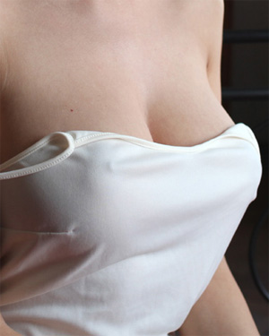 Nikol White Dress Nipples