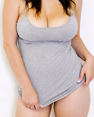 Noelle Easton Wears Just A Shirt